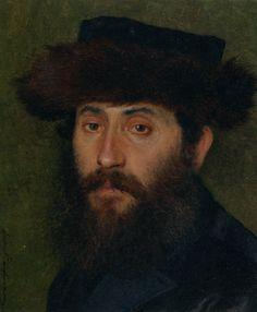 Isidor Kaufmann, Portrait of a man with Streimel