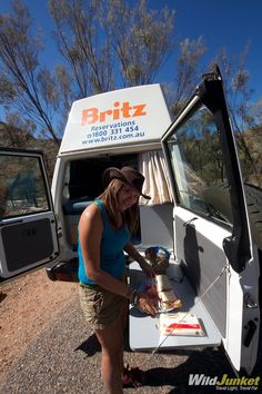 rear door table on landcruiser troopcarrier. It is a Bushcamper from Britz Australia Door Table, Campervan, Land Cruiser, Offroad, Retirement, Toyota, Australia, Camping, Dreams