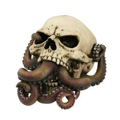 Octopus Tentacles, Biker Halloween, Halloween 2019, Halloween House, Octopus Bathroom, Bathroom Stuff, Creepy Home Decor, Mouth Drawing, Skull Art