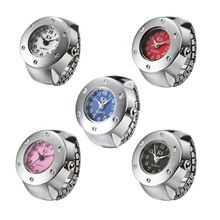 Kreativní Fashion Steel Round Elastic Quartz prst prsten hodinky Velkoobchodní drahokamu kulatý ciferník typem zvonění Dámské hodinky (Čína (pevninská část))