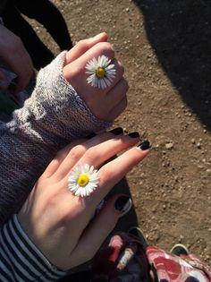 Bild über We Heart It #accessories #cool #flowers #grunge #hands #hoodie #indie #nails #pale #pretty #sunlight #sweater #wallflower #white #wild #marguerite #whitemarguerite