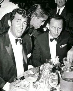 rat pack - Dean, Sammy and Frank at a Hollywood extravaganza.