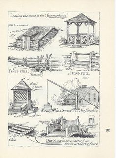 Your place to buy and sell all things handmade Summer House Print, Ice House, Well House, Farmhouse Country Decor, Rustic Decor, Farmhouse Decor, Ice Houses, Vintage House Plans, Cafe Racer Build, Architectural Prints, Boat Plans, Covered Bridges
