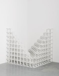 Sol LeWitt 1928 - 2007 CORNER PIECE #4 painted wood 43 3/8 by 43 3/8 by 43 3/8 in. Executed in 1976 | Sotheby's