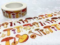 Mushroom washi tape 10M cute mushroom masking tape by TapesKingdom