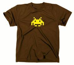 Space Invaders Retro Kult T-Shirt, Atari, C64,80er,nerd