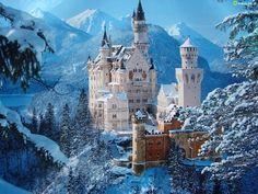 Neuschwanstein, Castle, Bavaria, Germany ... Source: Zdjecia.