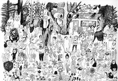 Kitty Crowther, illustration, art, black and white, Amazing Drawings, Cool Drawings, Kitty Crowther, Character Art, Character Design, The Art Of Storytelling, Beautiful Sketches, Little Monsters, Love Art
