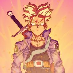 Trunks!! Needed to do a quick fun drawing. I remember how big of a deal Trunks was when I was in High School. DBZ had barely started playing on American TV and the only people that knew about him were those who'd seen his episodes through bootleg VHS tapes. So much fun.