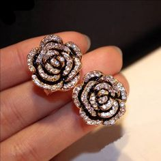 "Fashion Earrings Fashion Earrings Gold Plated high quality "" not a Brand "" CHANEL Jewelry Earrings"