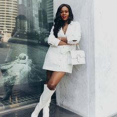 How to wear white like a pro, Spring white, style inspo, fashion influencer, white boots, chanel inspired tweed look, white tweed, top influencer #Regram via @www.instagram.com/p/COeE3ZVnJu5/