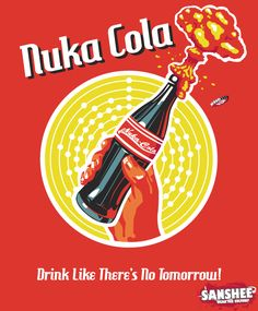 Fallout Nuka-Cola Teeshirt <3  I sure hope this isn't from something, because I'm just pinning it because I find it funny...