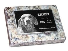 Hand crafted custom pet memorials by Eric  StoneArtUSA featuring high quality solid granite and permanent laser etching >>> Click on the image for additional details.