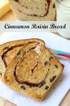 Three loaves of homemade cinnamon raisin bread in the time it takes to make one? Awesome. via SuperGlueMom.com