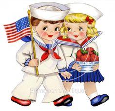 ~Vintage+America+Patriot+Kids+Waterslide+Decals~+KID525+#WaterslideDecals