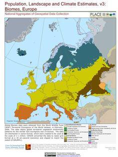 Europe Biomes Ciesin Map