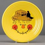Fiesta ware scarecrow plate!!