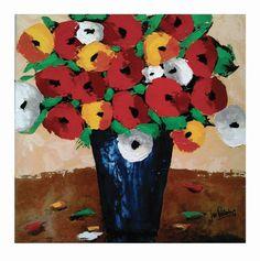 Poppies-Acrylic on board