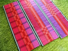 3 rep table runners in cotton.