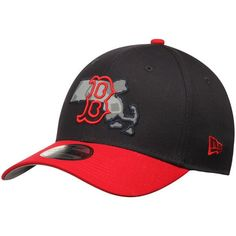 af686b86552 Men s Boston Red Sox New Era Navy Red State Flective 39THIRTY Flex Hat
