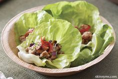 At only 120 calories per serving, these Thai Chicken Lettuce Cups will be your new best friend!