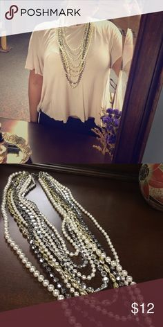 Costume Necklace Beautiful multilayered costume necklace!! NWOT Make an offer 😊 Jewelry Necklaces