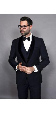 Men's 3pc Shawl Collar Tuxedo Velvet Lapel by Statement