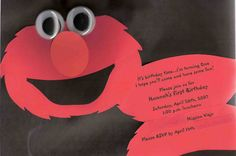 On Sesame Street lives a friendly monster, He likes to giggle and has lots of red fur. Who is it? Elmo of course! And he wants to say, We hope you can make it to Hannah's birthday!