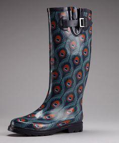 Peacock City Tall Rain Boot