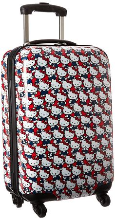 Hello Kitty 20 Inch Abs Spinner * Quickly view this special outdoor item, click the image : Travel luggage Best Luggage, Travel Luggage, Treasure Boxes, Red White Blue, Hello Kitty, Abs, Spinning Wheels, Amazon, Drawer