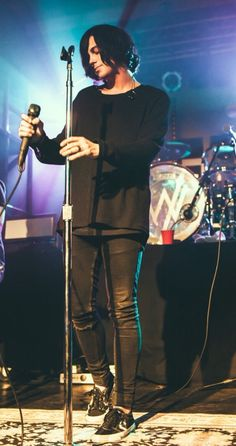 Is it just me or does it look like he's staring lovingly at his mic stand