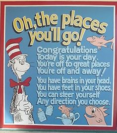 "A great quote from the book ""Oh, the Places You& Go!"" by Dr., EDUCATİON, A great quote from the book ""Oh, the Places You& Go!"" by Dr. Today is your day. You& off to Great Places! Pre K Graduation, Preschool Graduation, Graduation Ideas, Graduation Speech, Teaching And Learning Quotes, Teaching Tips, Martin Luther, Teacher Retirement, Retirement Ideas"