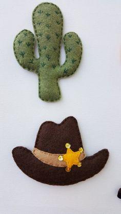 Lucky cowboy felt magnets or ornaments,Set of Felt cowboy boot,Felt cowboy hat,Felt horseshoe,Fel Cowboy Boot Crafts, Felt Cowboy Hats, Felt Animal Patterns, Stuffed Animal Patterns, Felt Christmas Ornaments, Hanging Ornaments, Caballo Spirit, Felt Magnet, Felt Ornaments Patterns