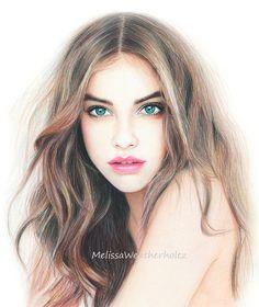 """Impresión del arte de la ilustración de moda original """"Barb"""" #illustration #draw #painting"""