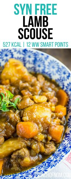 This slimming friendly Lamb Scouse is a perfect dinner for a cold evening, great for calorie counting and plans like Weight Watchers. Slimming World Noodles, Slimming World Dinners, Slimming World Recipes Syn Free, Slimming World Diet, Slimming Eats, Lamb Recipes, Diet Recipes, Cooking Recipes, Healthy Low Calorie Meals