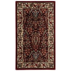 Persian Arts Burgundy (Red) 2 ft. x 3 ft. 6 in. Accent Rug
