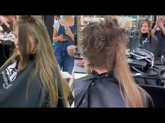Julie gets a short haircut by Alexx Andriann Bowl Haircuts, Haircuts With Bangs, Hair Cutting Videos, Hair Videos, Long Hair Cut Short, Short Hair Styles, Hair Movie, Shaved Hair Women, Women Haircuts Long