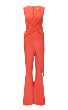 34ad0789990e Eldora sleeveless heavy crepe wrap jumpsuit by Saifiyaa Safiyaa