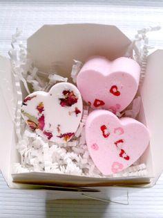 Coffret de bombe de bain st Valentin à 8€ le coffret de 3 bombes de bain