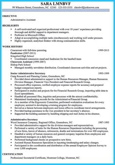 Administrative Assistant Resume Samples Administrative Assistant Resume Sample  Resume Sample  Pinterest .