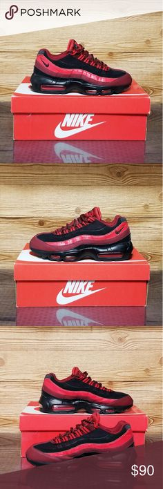 info for c4e02 e0cce 2015 Nike Air Max 95 Nike Air Max 95 -749766-600- Team Red   University Red    Black Pre Owned and in GOOD reusable condition.