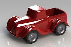 toy vintage style pickup truck - STL, STEP / IGES, SOLIDWORKS - 3D CAD model - GrabCAD