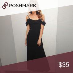 Lulu's black dress Long, black dress - never worn Lulu's Dresses Maxi