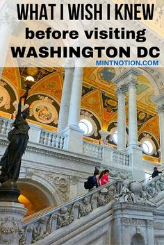 What I wish I knew before visiting Washington DC. Great tips for first-time visitors!