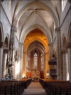 La nef de Notre Dame de l'Assomption de Rouffach