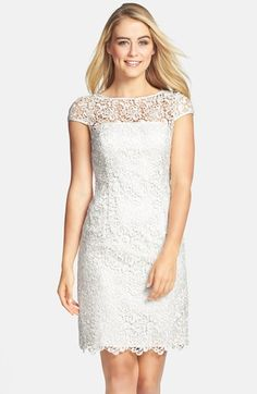 Adrianna Papell Lace Shift Dress | Nordstrom