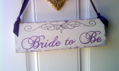 Wedding Sign Bride to Be  Tiara Crown Glitter by HickoryandLace
