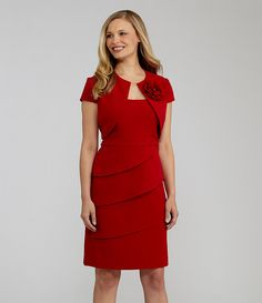 S.L. Fashions Bolero Jacket Dress | Dillards.com
