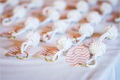 rope knot keychains for escort cards Northwest Nautical wedding, Photo Elan, Simply by Tamara Nicole, Ray's Boathouse Tie The Knot Wedding, Wedding Pins, Wedding Details, Nautical Wedding Theme, Beach Wedding Favors, Planners, Nantucket Wedding, Wedding Seating, Wedding Coordinator