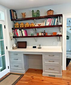 JEM Woodworking has been providing custom cabinetry, manufactured out of Hudson, NY for over 25 years. Kitchens, bathrooms, built-ins all customized to your style preferences. White Desks, Custom Cabinetry, Built Ins, Office Desk, Corner Desk, Your Style, Woodworking, Furniture, Home Decor